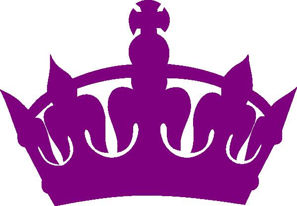600x418 Purple Royal Crown Silhouette Clip Art