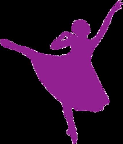 428x500 Beautiful Ballerina In Purple Public Domain Vectors