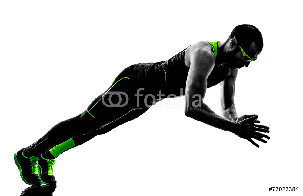 1000x647 Man Push Ups Exercises Fitness Silhouette Wall Sticker Wall Stickers
