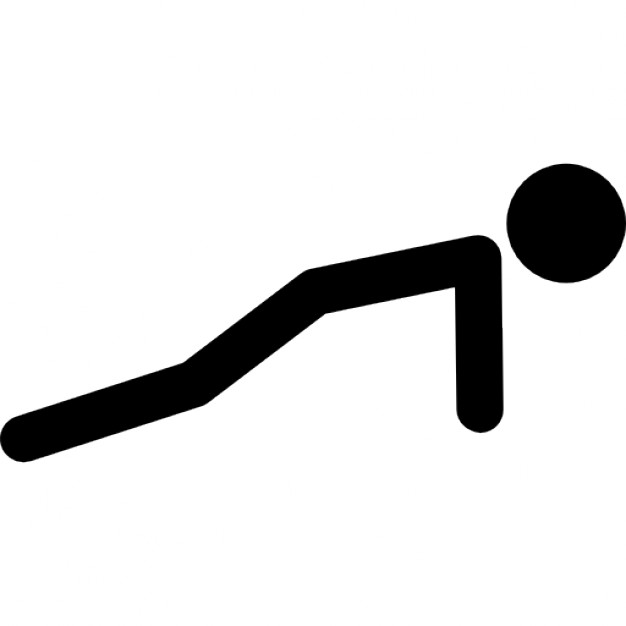 626x626 Stick Man Variant Doing Push Ups Icons Free Download