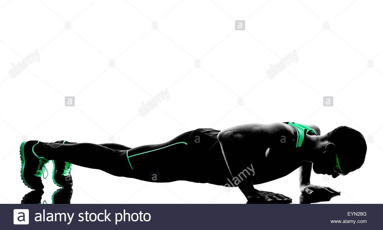 1300x783e Man Exercising Push Ups Fitness In Silhouette Isolated