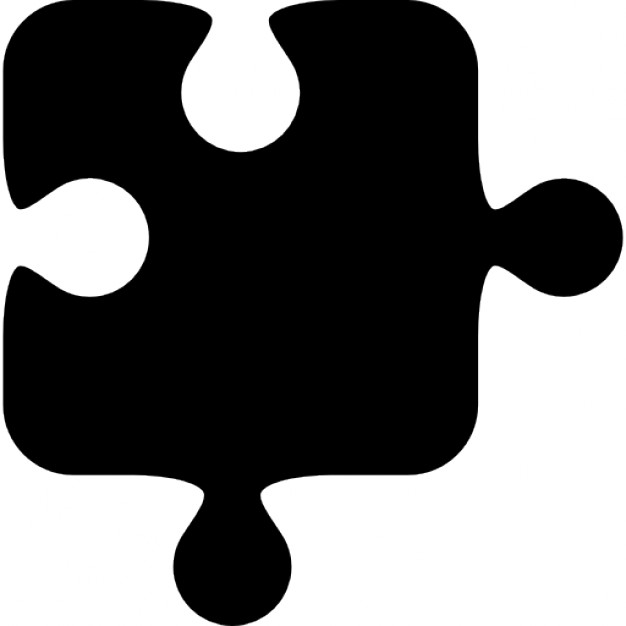 626x626 Puzzle Piece Silhouette Icons Free Download