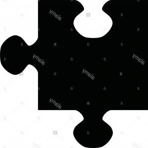 300x300 Stock Photo A Black And White Silhouette Of A Jigsaw Piece Ardiafm