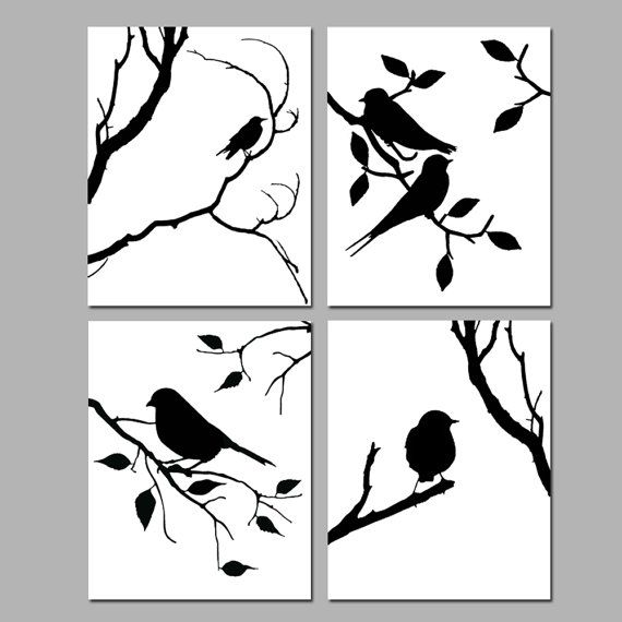 570x570 Birds Of A Feather Wall Art Quad