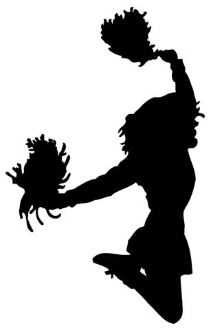 211x330 Cheerleader Silhouette Decal Sticker