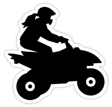 375x360 Quad Woman Girl Stickers By Designzz Redbubble