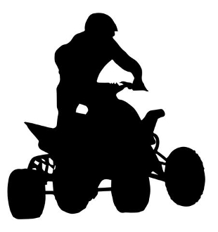 310x330 Atv Silhouette 1 Decal Sticker