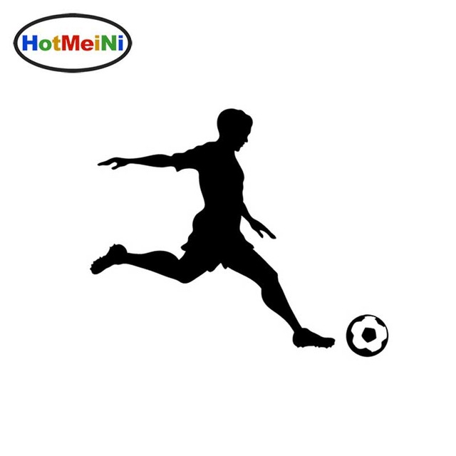 640x640 Soccer Player Sports Vinyl Decal Soccer Ball Sticker For Boat Rv