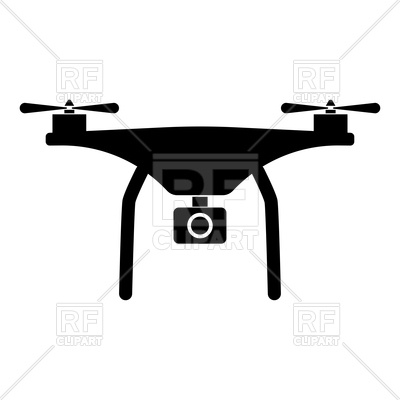 400x400 Silhouette Of Drone Royalty Free Vector Clip Art Image