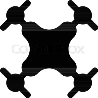 320x320 Vector Concept Of Quadcopter Air Drone With Video Cam Stock