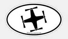 225x131 Dji Phantom Quadcopter Sticker Label Quad Silhouette Oval Badge