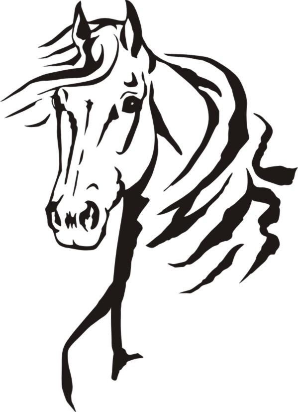 Quarter Horse Head Silhouette At Getdrawings Com