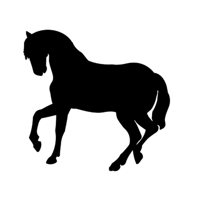 640x640 Quarter Horse Pony Silhouette Vinyl Decal Sticker Car Truck Van