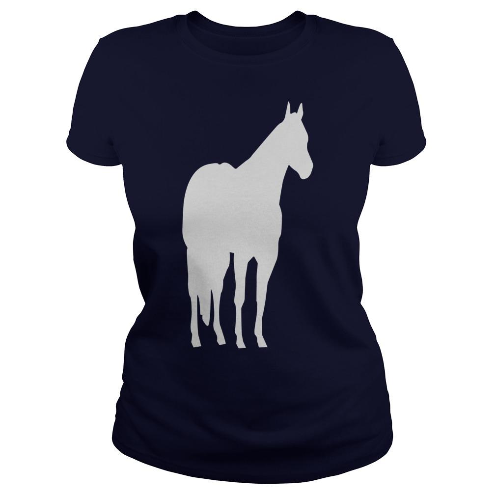 1010x1010 Quarter Horse Silhouette Stock Horse Silhouette T Shirts