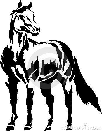 349x450 Western Halter Horse Clip Art Illustration Quarter Horse