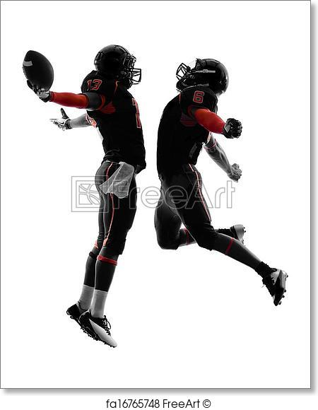 450x580 Free art print of Two american football players touchdown