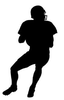 211x330 Quarterback Silhouette 2 Decal Sticker