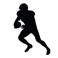 200x200 American Football Player, Isolated stock vectors