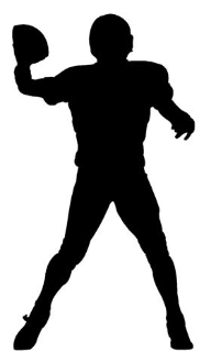 192x330 Quarterback Silhouette Decal Sticker