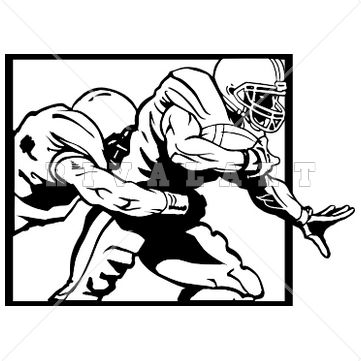 361x361 football quarterback silhouette clipart