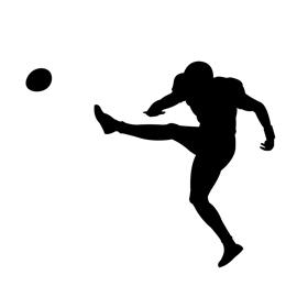 270x270 Football Kicker Silhouette Stencil Free Stencil Gallery