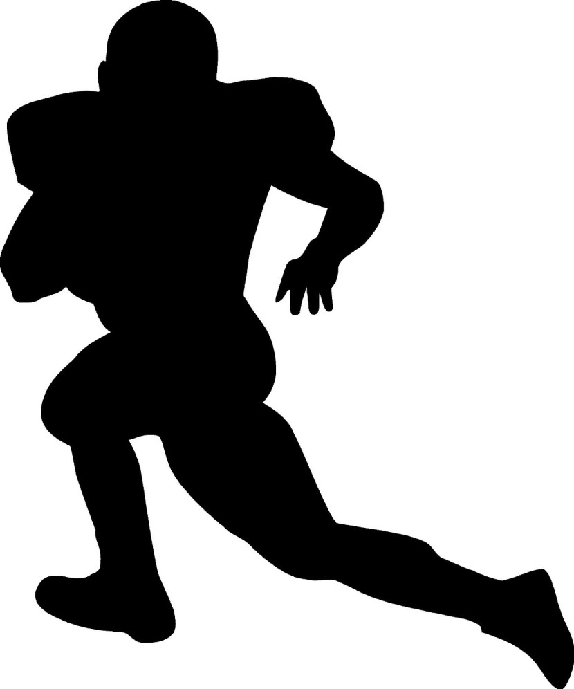 830x996 Football Player Clipart Black And White