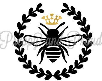 340x270 Queen Bee Car Decal Etsy