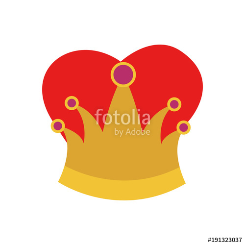 500x500 Queen Crown In Colorful Silhouette Vector Illustration Stock