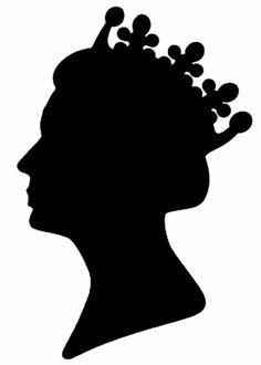 Queen Elizabeth Silhouette