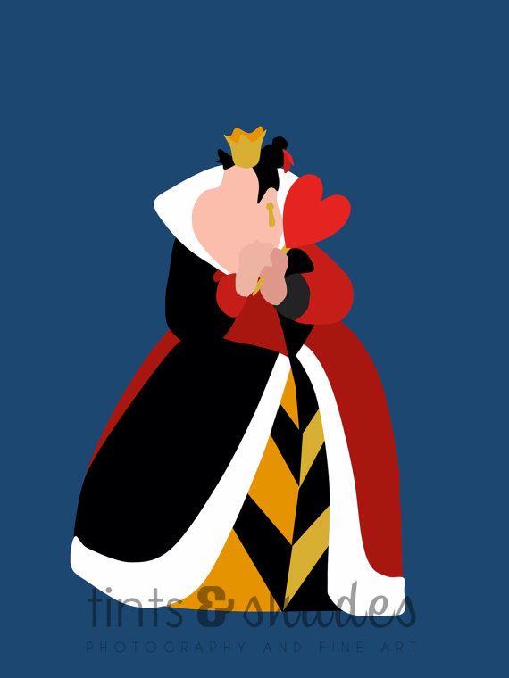 Queen Of Hearts Silhouette