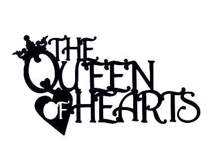 448x304 The Queen Of Hearts Mother Goose Word Silhouette By Hilemanhouse