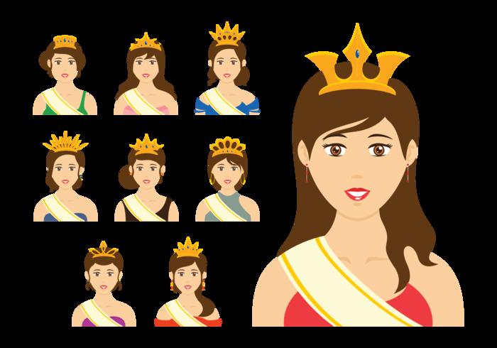 700x490 Pageant Queen Vector