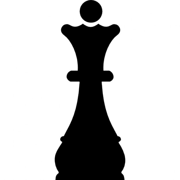 626x626 Queen Chess Piece Black Shape Icons Free Download