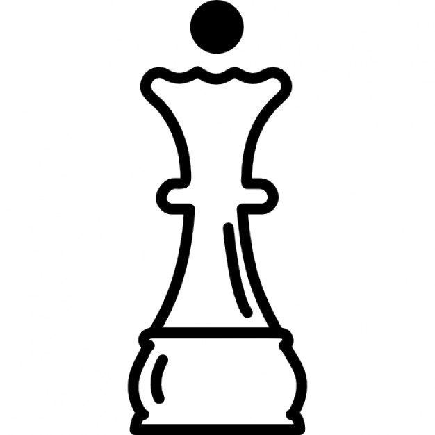 626x626 Queen Chess Piece Outline Icons Free Download