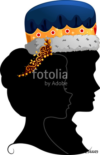 321x500 Couple King Queen Silhouette Profile Stock Image And Royalty Free