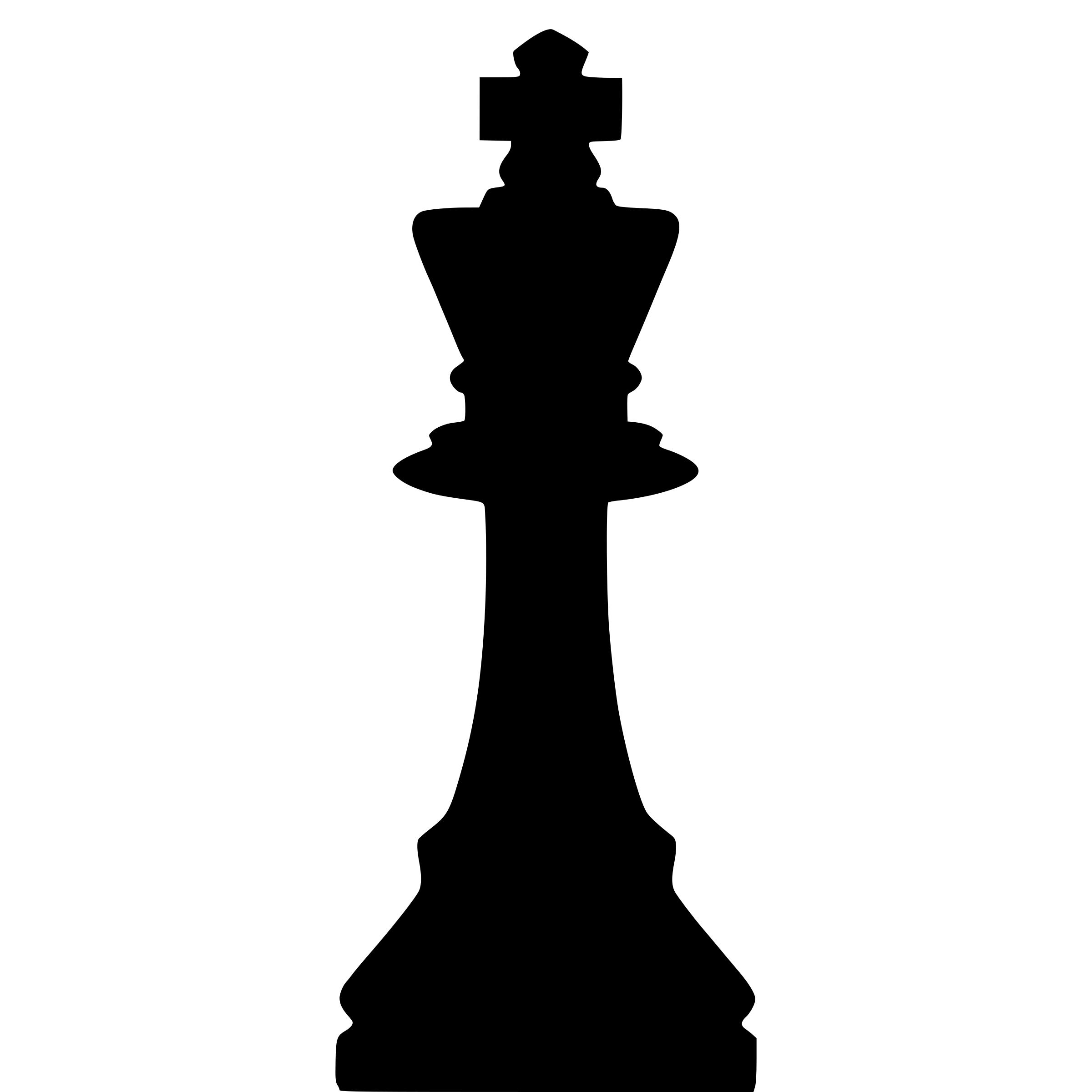2400x2400 Silhouette Staunton Chess Piece King Rey Icons Png