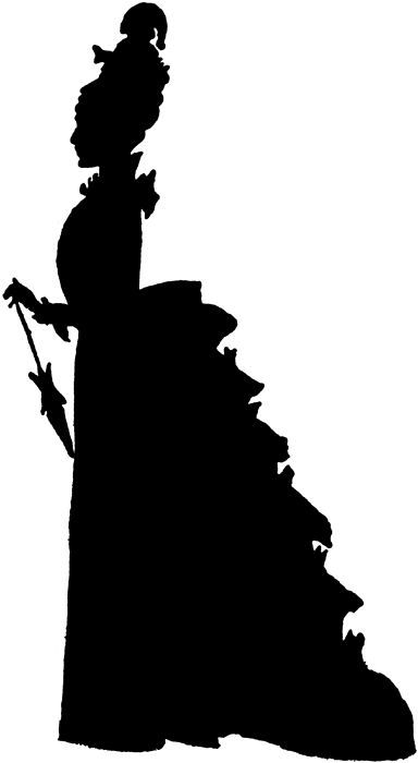 384x700 Victorian Silhouette Clip Art Our Free Image Today,