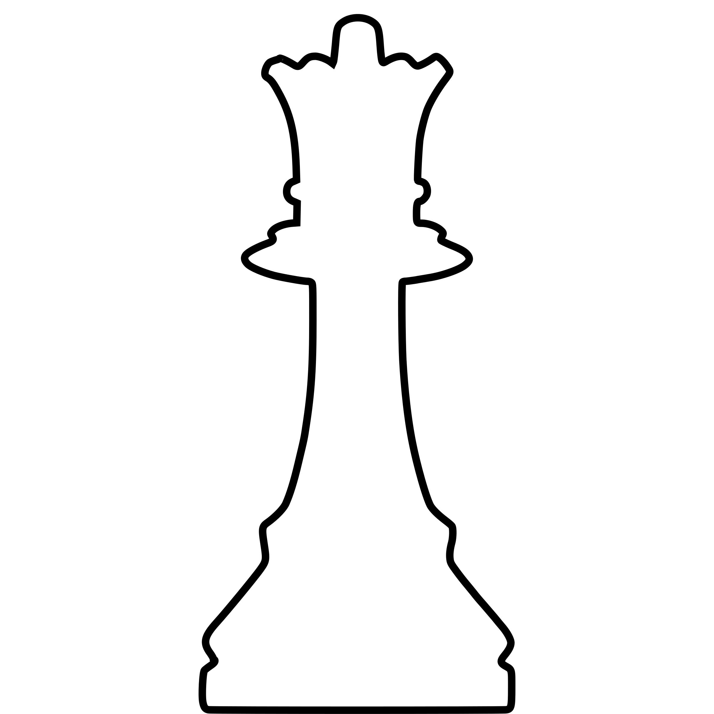 2400x2400 White Silhouette Chess Piece Remix Queen Dama Icons Png