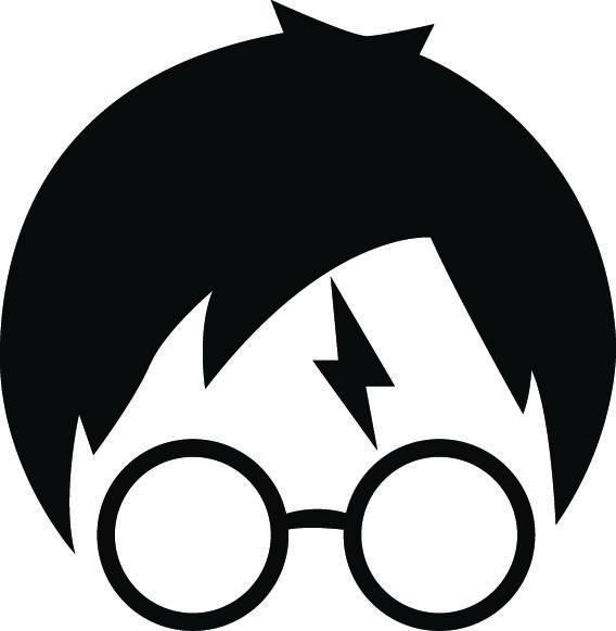568x581 Harry Potter Svg Harry Potter Silhouette Harry Potter