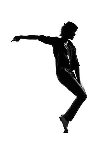366x488 Full Length Silhouette Of A Young Man Dancer Dancing Funky Hip Hop