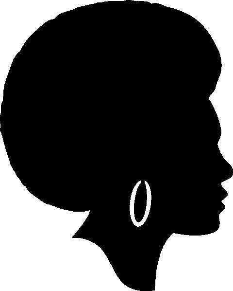 480x598 Black Female Afro Silhouette Clip Art