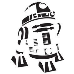 R2d2 Silhouette Vector At Getdrawings Com Free For Personal Use
