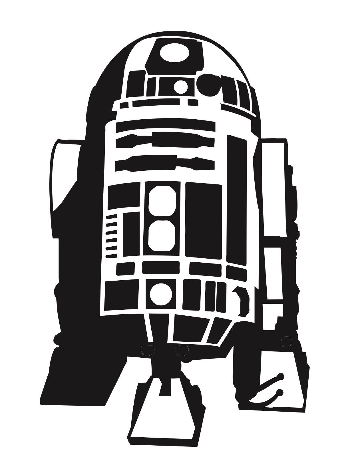 R2d2 Silhouette Vector at GetDrawings | Free download