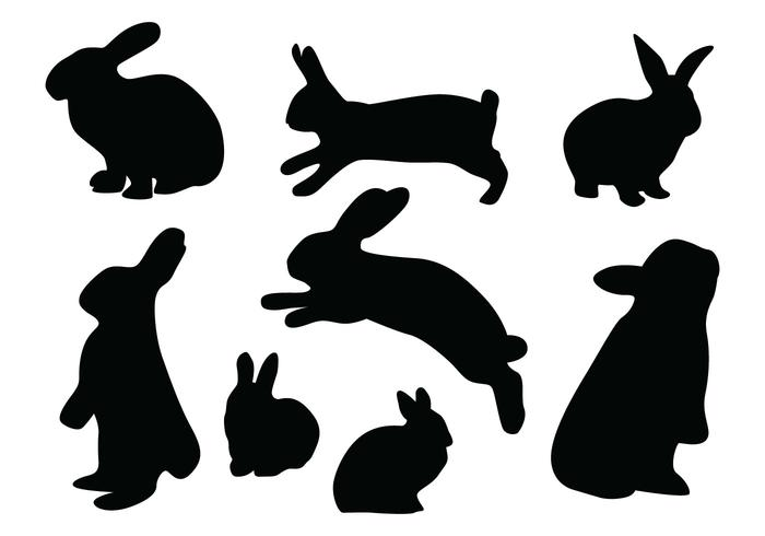700x490 Rabbit Silhouette Vectors