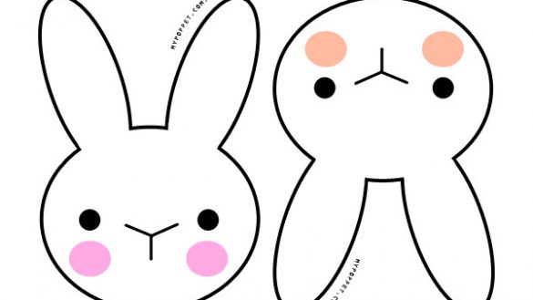585x329 Bunny Face Outline Coloring Page Sporturka Bunny Face Outline