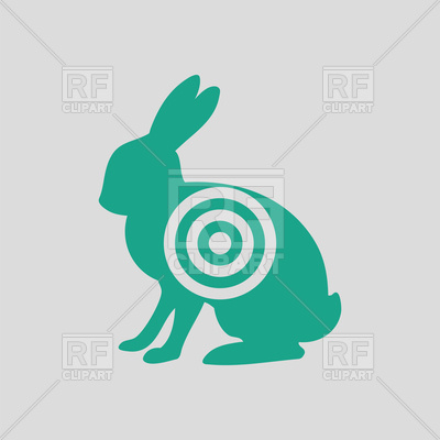 400x400 Hare Silhouette With Target