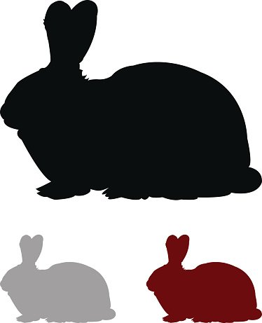 374x461 Rabbit Silhouette Premium Clipart