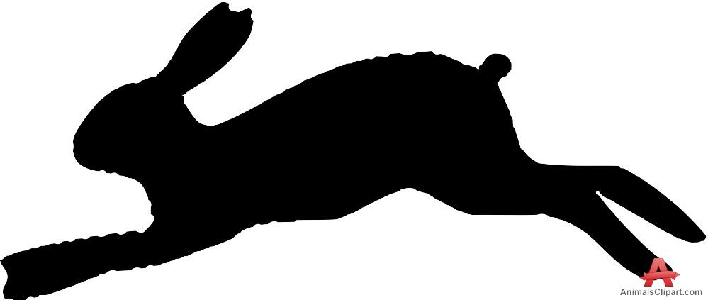 999x423 Running Rabbit Silhouette Clipart