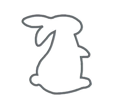 438x397 Embroidery Applique File Design Pattern Bunny Rabbit