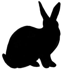 236x268 Easter Bunny Silhouette Printable Festival Collections